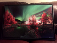 $200 down from $300  20x30 Framed northern lights canvas