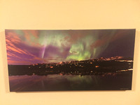 $120 from $180  16x32 canvas of Northern lights with Anchorage