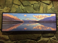 $300 down from 400  16x48 canvas of Kenai Lake.